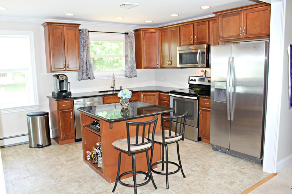 Beautiful kitchen with all new cabinets and flooring