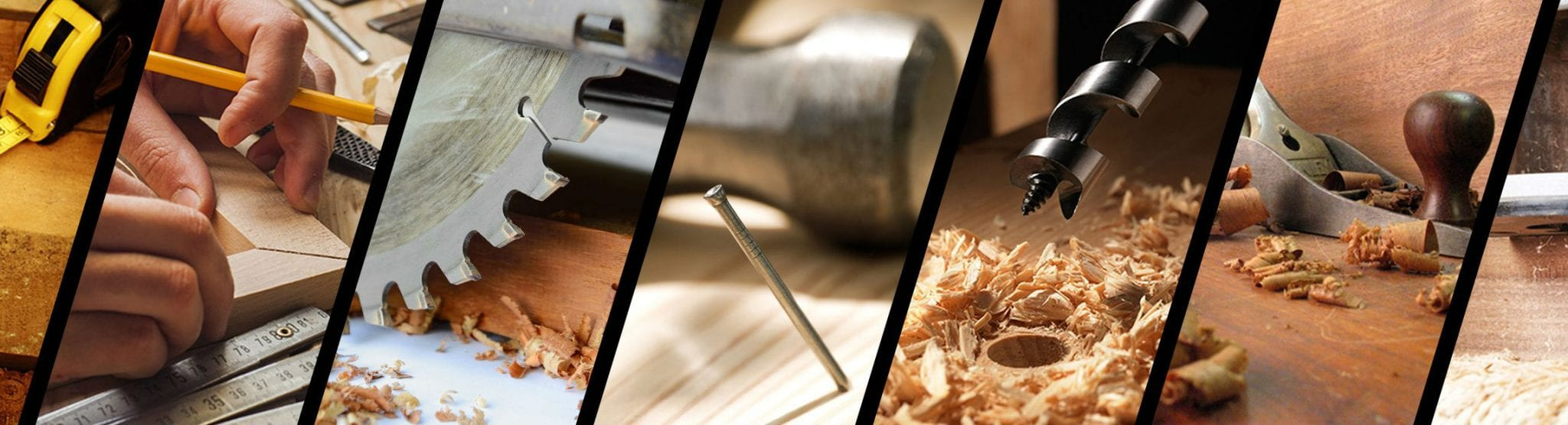 collage of carpenter tools and skills